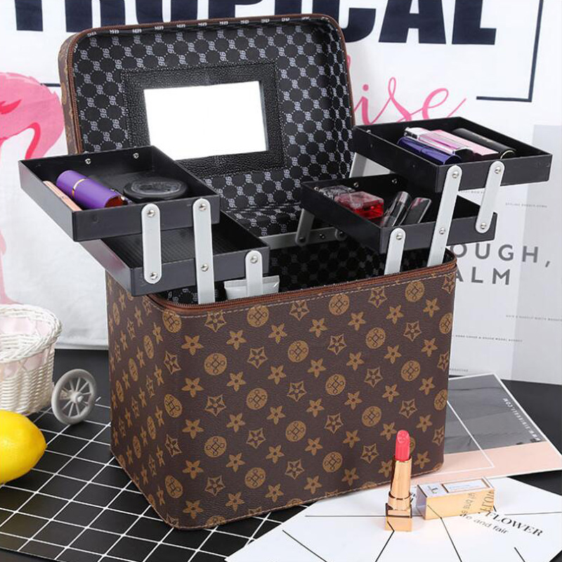 Multifunctional Makeup Kit Portable Makeup Tool Storage Box Travel Storage Box Cosmetic Case Waterproof Travel Makeup Kit