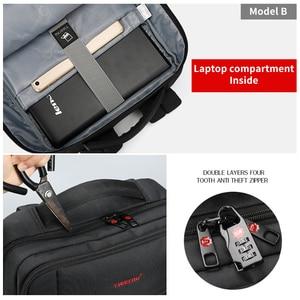 Image 5 - Tigernu Big rabat Casual Men 15.6 cala z zabezpieczeniem przeciw kradzieży plecak na laptopa torba moda plecak z USB męski plecak szkolny dla mężczyzn