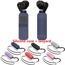 6 Colors Set Soft Silicone Case DJI OSMO POCKET Protector  Cover with Neck Strap Lanyard for Osmo Pocket Handheld Gimbal