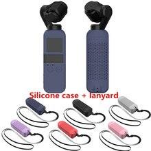 6 cores Conjunto Caso DJI OSMO Protetor de BOLSO Capa de Silicone Macio com Alça de Pescoço Colhedor para Osmo Bolso Cardan Handheld