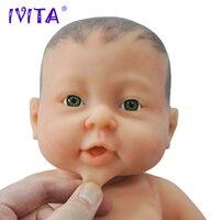 IVITA WG1503H 41cm 2000g Full Body Silicone Reborn Baby Girl with painted Hair Realistic Preemie LifeLike Skin Soft Dolls Babies