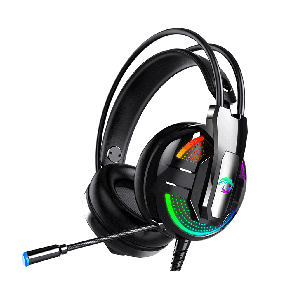 2020 PS4 Headset Gaming Headphone with Microphone PC Noise Cancelling RGB Light Over Ear Wired Headphone for Computer Xbox PS5 1
