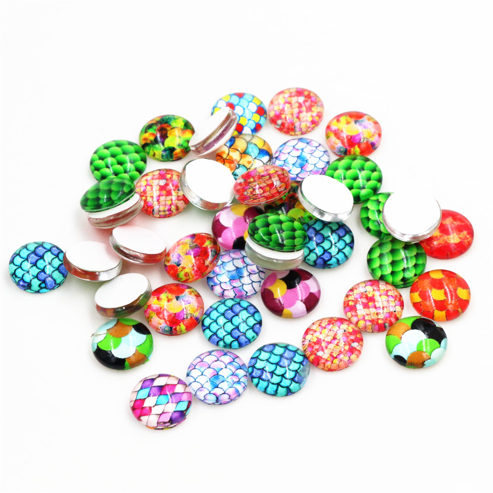 Hot Sale 50pcs 8mm And 10mm Mixed Handmade Photo Glass Cabochons
