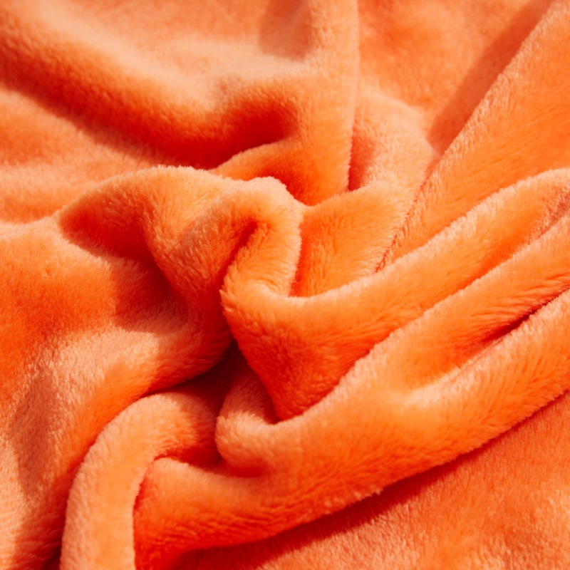 Super Soft Pure Color Coral Fleece Blanket Flannel for Sofa Blankets Yoga Office Car employ Fall Winter Cozy Season Bedding-5
