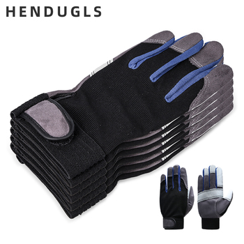 QIANGLEAF 10pc Work Gloves Black White Stitching Safety Protection Wear Glove Hiking Bicycle Bike Cycling Winter Gloves 2710