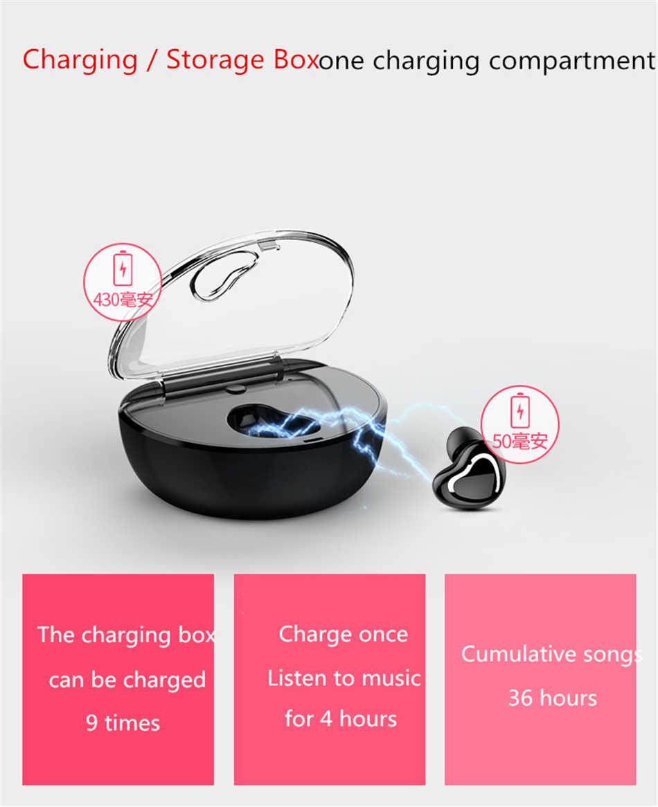 ANRY X7 Business Single Bluetooth auricular Mini portátil TWS inalámbrico auricular banco de energía micrófono para la conducción del coche deporte llamada de teléfono