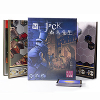 Mr. Jack 4 In1 Board Game Family/Party/Friends London/New York/London Extended/Pocket Funny Cards Game