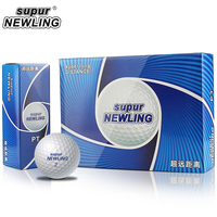 1 Box Supur NEWLING Golf Balls Supur Long Distance 2 Layers Golf Game Ball 12 pcs Golf Distance Balls