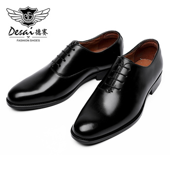DESAI Black Italian Fashion Business Oxford Leather Casual Shoes For Men - discount item  32% OFF Men's Shoes