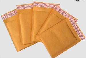 100 pcs/lots enveloppes à bulles enveloppes rembourrées emballage sacs d'expédition sacs à bulles Kraft enveloppes d'expédition (110*130mm)