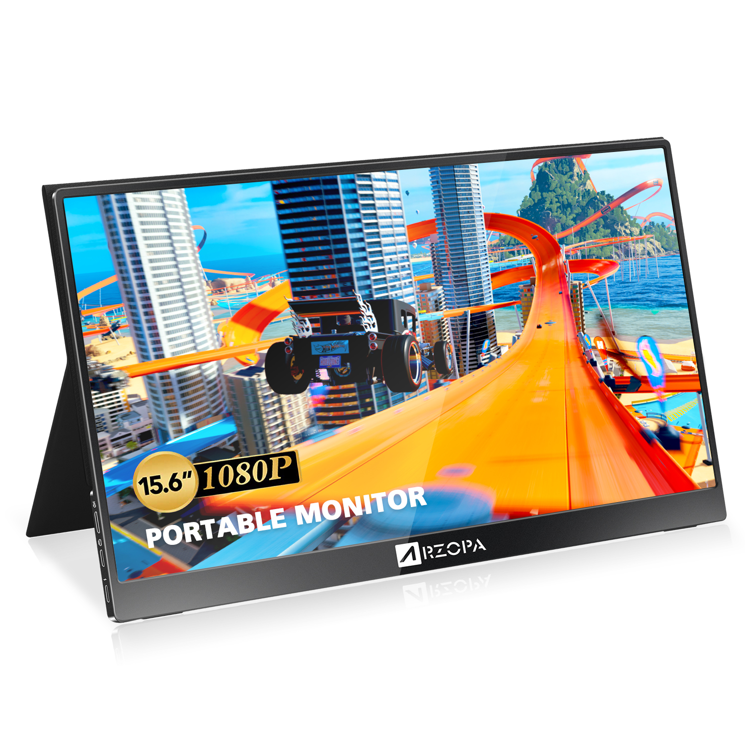 ARZOPA 15.6inch Portable Monitor 178 ° IPS HDR 1920x1080 Full HD PC Monitor USB C Game Monitor Eye Care Screen For PC/Laptop/PS5