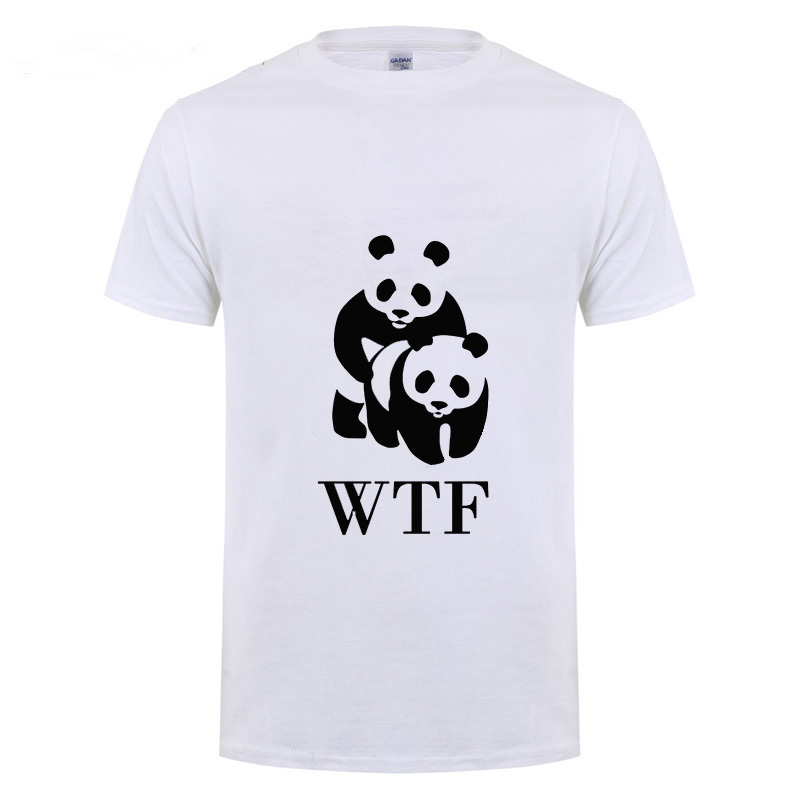 WWF Sex Panda Comedy Design Funny T Shirt For Men Male Plus Size Streewear Casual Hiphop Short Sleeve Round Neck Cotton T-Shirt(China)