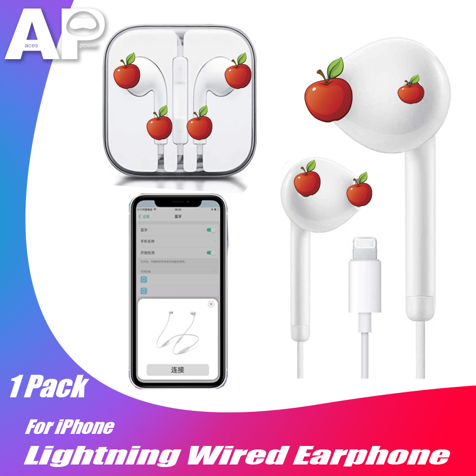 Acespower Wired Earphone For IPad IPhone 7 8 Plus X XS MAX XR Bluetooth Earpiece Music Call Answering Stereo IOS Earphones