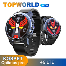 KOSPET أوبتيموس برو ساعة ذكية 4G LTE 3GB + 32GB ساعة ذكية واي فاي رصد معدل ضربات القلب كاميرا 8mp نظام مزدوج لتحديد المواقع أندرويد ساعة الهاتف