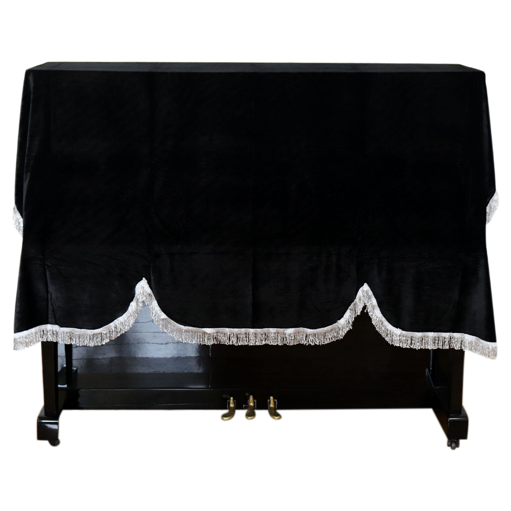 Washable <font><b>Dust</b></font> Proof Practical Gold Velvet <font><b>Piano</b></font> <font><b>Cover</b></font> Foldable Protective Upright Vertical Keyboard Anti Scratch Non Slip Home image