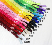 100pcs24color 20/25/30/35/40/50cm Nylon Lace Zipper For Clothes Zippers Tailor Sewing Zip Closure Craft Sewing Accessories