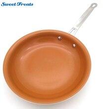 Sweettreats yapışmaz bakır kızartma tavası seramik kaplama ve indüksiyon pişirme, fırın ve bulaşık makinesi güvenli