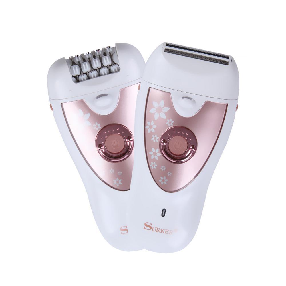 New Products Sk-513 Shaving Plucking Dual Purpose Epilator Washable Blade Wet And Dry Dual Purpose LED Light Illumination