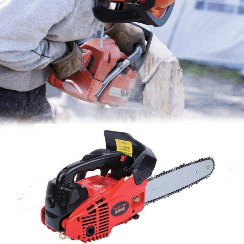 Yonntech Mini Saw Gasoline Chainsaw 25.4cc 1.22 HP Petrol Chain Saw Motor Portable Chainsaw Woodworking Garden Tools