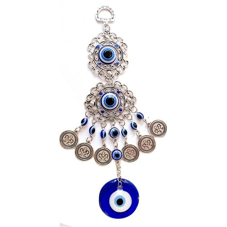 Турецкое синее висячее украшение от сглаза, Подвесной Настенный амулет, защита, счастливая круглая Капля воды для украшения дома