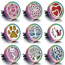 New Colorful Car Perfume Diffuser Aroma Essential Oil Clip Aromatherapy Necklace Pendant Open Lockets