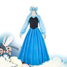 Elegant The Little Mermaid Cosplay Ariel Costume Adults Blue