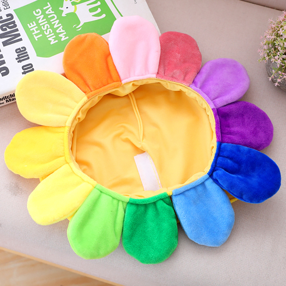 Creative Sun Flower Headgear Staffed Soft Cap Funny Plush Toys For Kids Girls Lovely Christmas Gift Party Dolls May11