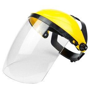 Image 1 - Anti choque protetor máscara facial completa capacete de soldagem anti uv segurança clara anti respingo escudo viseira suprimentos de proteção de local de trabalho