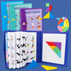 Magnetic 3D Puzzle Jigsaw Tangram Game Montessori Learning Educational Drawing book Games Toy Gift for Children