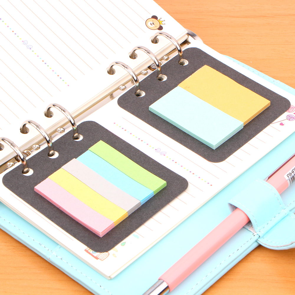 <font><b>2</b></font> Pcs/pack 6 <font><b>Holes</b></font> A5A6 <font><b>Binder</b></font> Adhesive Portable Filler Sticky Note-taking For Notebook organizer planner pages image