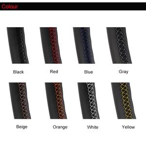 Image 5 - Künstliche Leder auto lenkrad braid für Toyota Land Cruiser Prado 2010 2015 Tundra 2013 2017 /Custom maß Lenkung Abdeckung