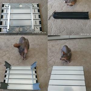 Image 2 - Licht Aluminium Legierung Tragbare Tisch Ordentlich Möbel Faltbare Folding Camping Wandern Schreibtisch Reisen Picknick Im Freien Möbel