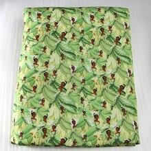 50*140 см, мультяшный принт, пэчворк, полиэстер, хлопок, ткань для детской ткани, домашний текстиль для шитья, полиэстер, наволочка, c2829