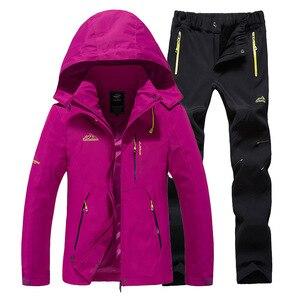 Image 4 - Ski Suit Women Warm Waterproof Skiing Suits Set Ladies Outdoor Sport Winter Coats Snowboard Snow Jackets and Pants Lawele Hoolau