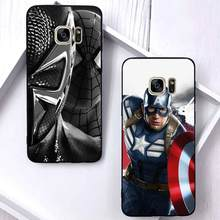 Marvel soft case for samsung galaxy s10 plus s9 s8 s7 edge lite note 8 s6edge s9plus m20 coque iron man silicone tpu phone cover(China)