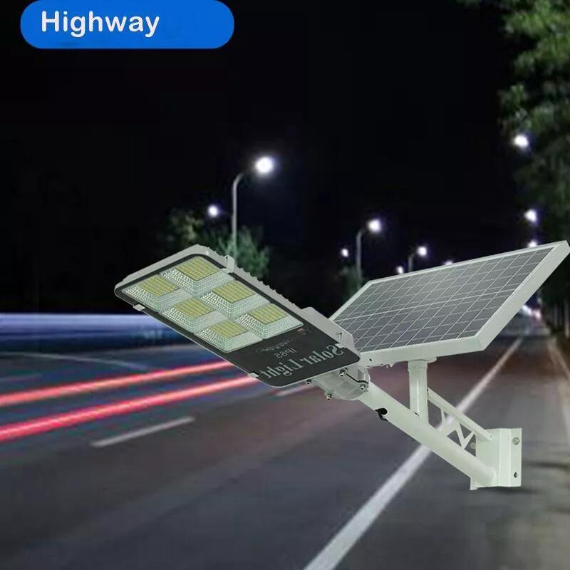 2PCS 300W Solar Focus Light Tricolor Lighting Solar Street Lamp Lights For Garden Outdoor Lighting  Floodlight Light Sensor