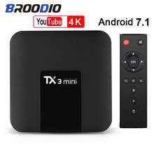 Tx3 mini android 7.1 9 caixa de tv smart tv h2.65 2.4g 5g p 4k conjunto caixa superior tvbox iptv media player amlogic s905w 1g 2g 16g caixa pk t95