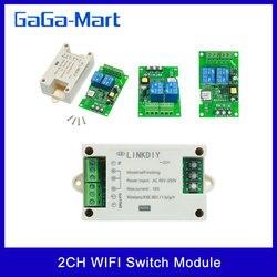 EWeLink умный Wifi переключатель универсальный модуль 2CH AC85-250V беспроводной переключатель таймер телефон приложение дистанционное управление ...