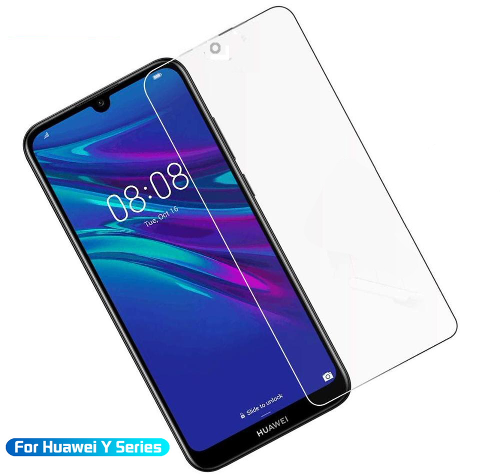 Protective Glass On For Huawei Y7 2019 Tempered Glass For Hauwei Y 5 6 7 Prime Pro 2019 Safety HD Screen Protector Glass Film
