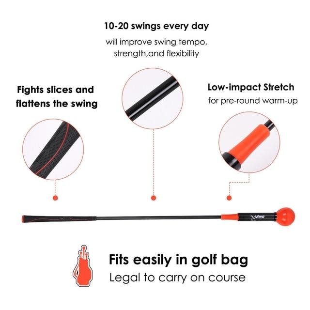 Golf Swing Trainer Warm-Up Stick Beginner Alignment Golf Clubs Gesture Correct Wrist Training Aids Tools Golf Accessories 4