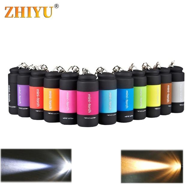 LED Mini lampes de poche porte-clés batterie intégrée Portable lampe de poche LED lampe torche extérieure USB Rechargeable Camping lampes de poche