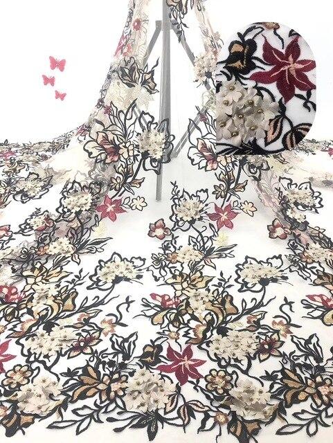 Fioletowy 2018 New Arrival francuski koronki tkaniny afrykańskie kamienie koronki tkaniny wysokiej jakości sieć koronki nigerii materiał sukienka