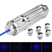 Hunting Lasers 5000m Blue Laser Pointer 450nm Lazer Pointer Flashlight Burning Match Burn light cigars candle Hunting Laser Pen