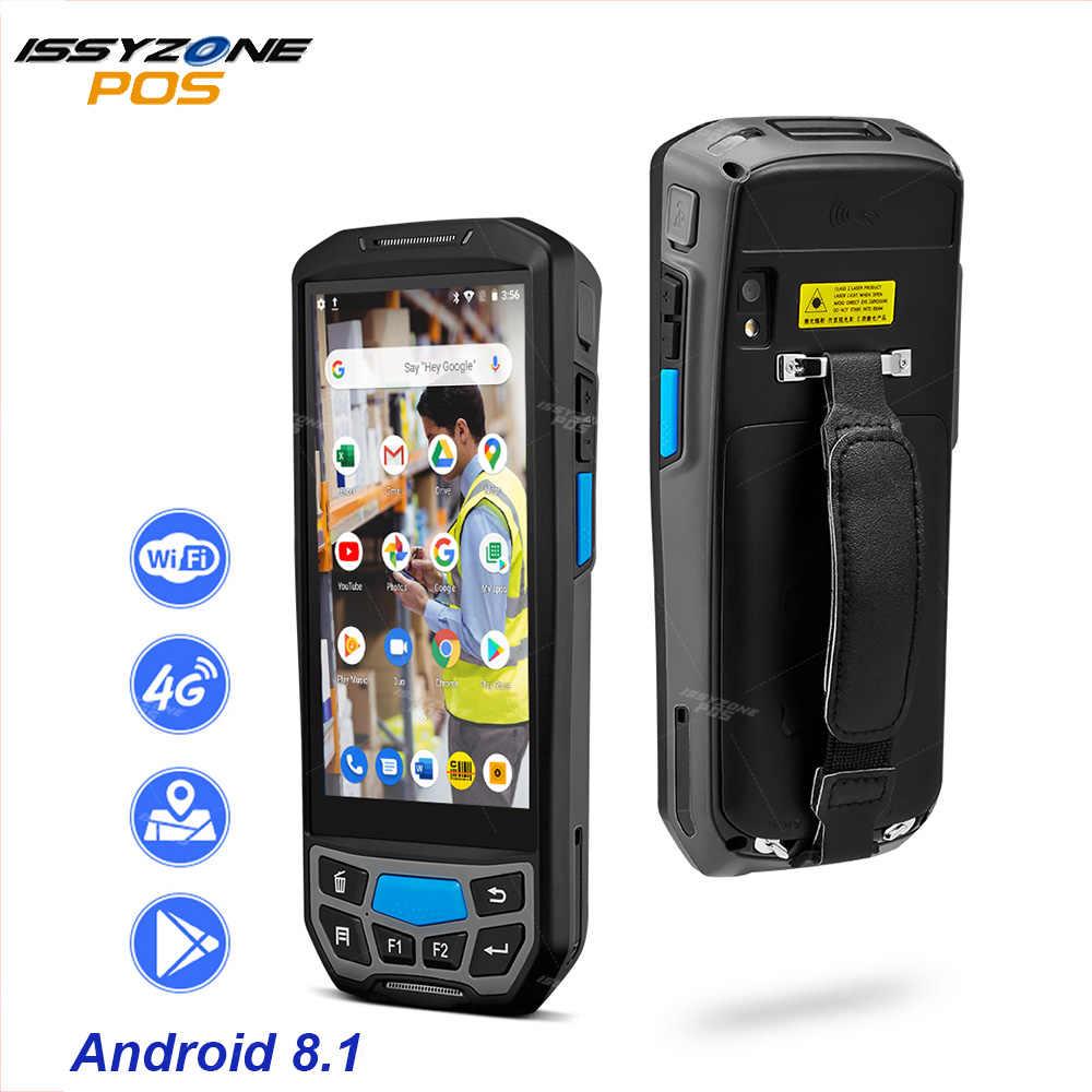 ISSYZONEPOS Handheld POS Terminal 2D QR Barcode สแกนเนอร์ NFC PDA Android 8.1 5 นิ้วแบบพกพาบาร์โค้ด Rearder WIFI