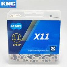 Kmc x11 x11.93 bicicleta corrente 118l 11 velocidade corrente com caixa original e botão mágico para mountain/rod bicicleta peças