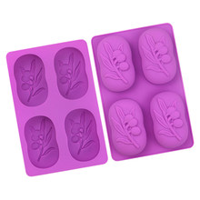 DIY Silicone Soap Molds Olive Tree Shape Form Handmade Soap Making Mould Form Cake Chocolate Decorating Tools