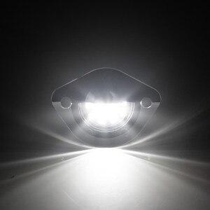 Image 3 - Ford Mustang 1994 2004 için LED plaka etiketi işık lisans çerçeve lamba tarafından desteklenmektedir 18 SMD elmas beyaz LED hata ücretsiz