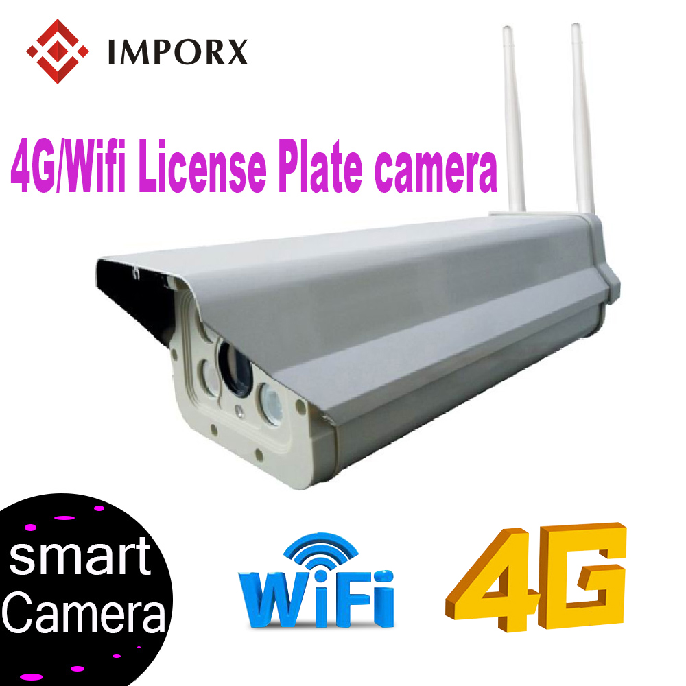 4G WIFI HD <font><b>2MP</b></font> 1080P Professional License Plate Recognition ANPR <font><b>IP</b></font> <font><b>Camera</b></font> Compatible With Hikvision and <font><b>Dahua</b></font> NVR Up to 180KM/H image