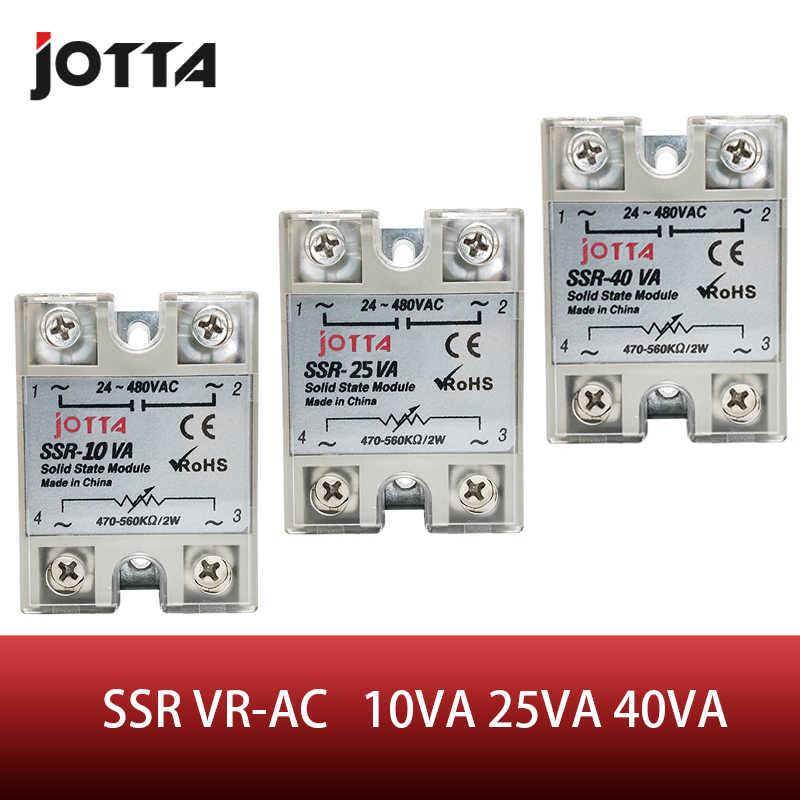 SSR -10VA/25VA/40VA VR-AC 40A 화이트 컬러 솔리드 스테이트 전압 레귤레이터 SSVR