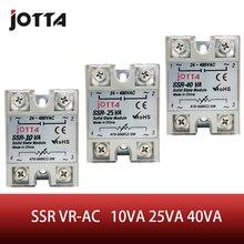 SSR -40VA VR To AC 40A white color Solid State Voltage Regulator SSVR